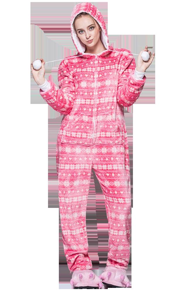 Kerst-Onesie-Roze