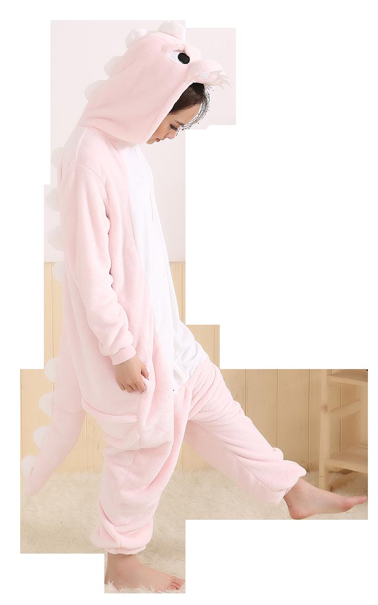 Roze Dino Onesie