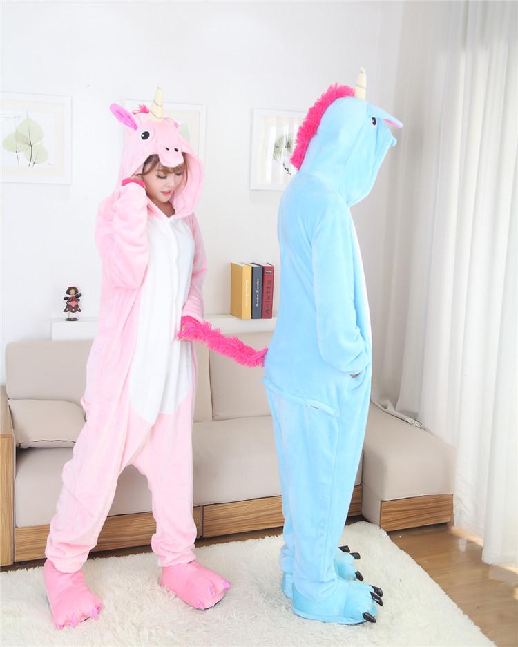 Blauwe en Roze Eenhoorn Onesie